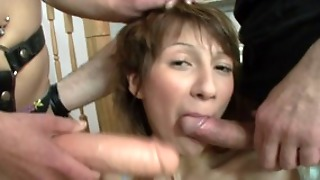 Wild Threesome With Strap-On And Double Penetration All The Way