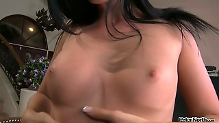 Hussy Looking Brunette Sucks Meaty Lolly Cock