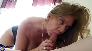 Mature Blonde With Big Tits Getting Fucked
