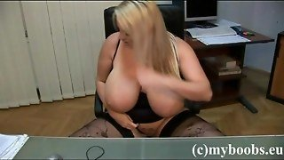 Huge Tits Laura M In Office