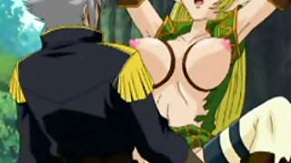 Bondage Hentai Elf With Bigboobs Hot Fucked Bigcock In The Forest