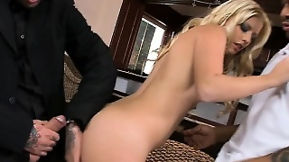 Anal, Blonde, Interracial, Blowjob, Teen, Handjob, Threesome