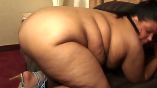 Ebony Bbw Fucked And Gets A Mouthful Of Cum