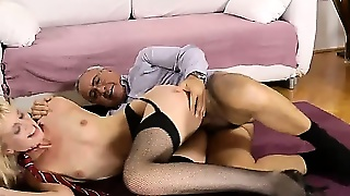 Amateur Stockings Cumshot And Facial