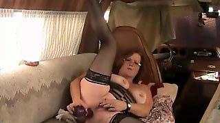 Old Bbw Cougar Play With Sex Toy