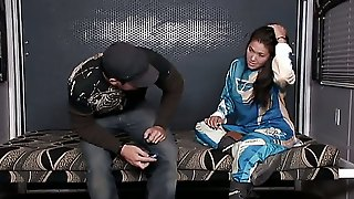 After High-Speed Bike Riding Aaron Wilcoxxx Feels Like He Needs Some Asian Pussy. London Keyes Seems To Be Amused At The Notion Of Sucking His Craving Beaver-Cleaver.