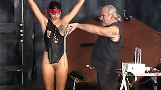 Lovely Bdsm Girl With Tattoo And Shaved Cunt Gets Tortured By Master Len