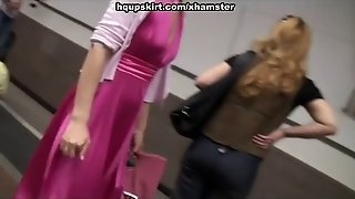 Upskirt Cam Video With Big Assed Hottie