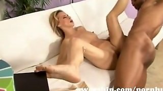 Sexy Blonde Milf Mom Into Interracial Sex With A Huge Black Cock