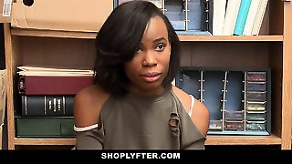 Shoplyfter - Cute Ebony Teen Recorded Store Fuck