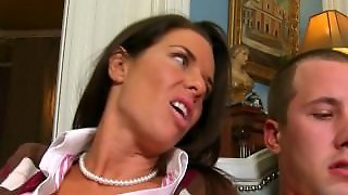 Blowjob Lesson From Mature Stepmom