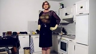 Marvelous Aged Latex Anal Rubber Ladyboy Bitch