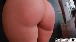 Ass Traffic Brunette Is Bent Over And Fucked In The Ass