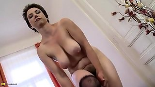Mommy Slut Teases Her Big Natural Boobs