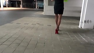 My Stockings And High Heels In Public