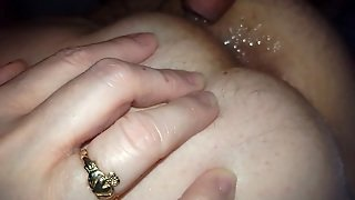 Rubbing My Cock Then Cumming On Her Hairy Asshole
