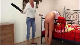 Blonde Teens Getting Spanked Hard