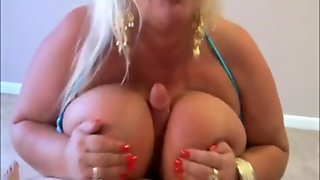 Blonde Bbw With Big Tits Gives You A Handjob