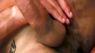 Muscular Latino Strokes His Big Dick