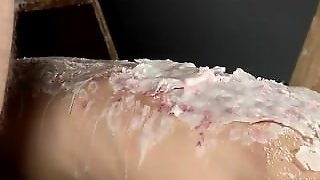 Hairy Legs In Air Gay Porn Splashed With Wax And Cum