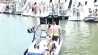 Outrageous Bikini Chicks At Public Boat Party