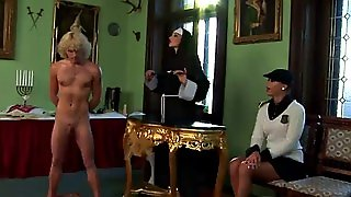 Mistress Fucks Maid With Toy