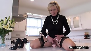 Unfaithful British Mature Lady Sonia Shows Her Heavy Jugs