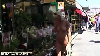 Hot Public Nudity With Cute Babe Vanessa