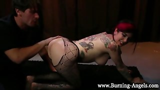 Bdsm Stockings Goth Gets Anal Toyed