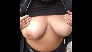 Flashing Tits And Cock
