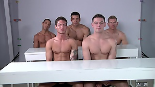 Tattoo, Gay Orgy, Blowjob, Kissing, Hd